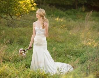 Bridal Separates, lace bodice with mermaid skirt // Catarina-Riley