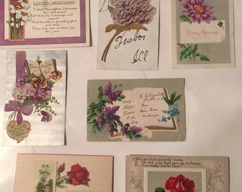 Vintage Post Cards Lot of  7