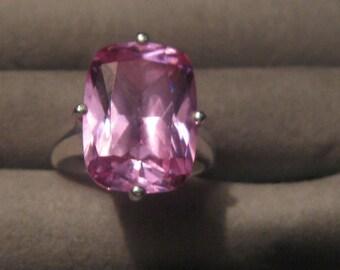 Vintage silver gemstone ring