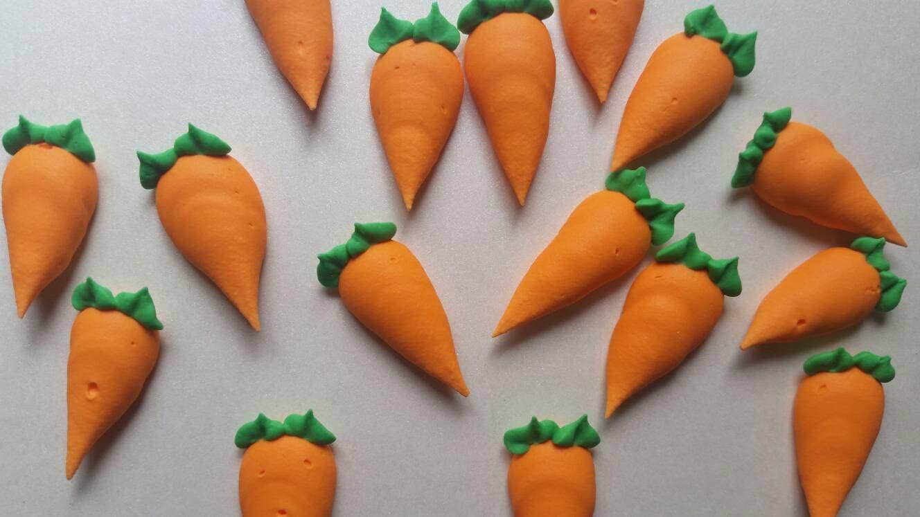 Royal icing carrots carrot cake Edible handmade cake
