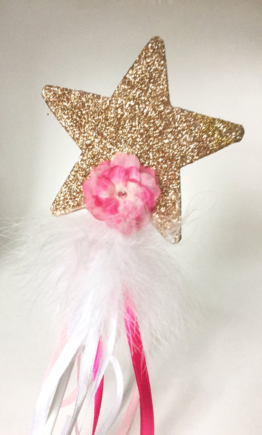Glitter wand fairy wands dress up wand birthday girl for Birthday wand