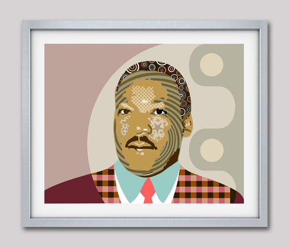 Martin Luther King Jr, Human Rights Activism Civil Rights Black Nationalism Unity African American , Celebrity Portraits