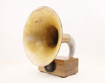 Bluetooth Speaker, Gramophone Speaker, Wireless Speaker, iPhone Speaker, iPhone Amplifier, iPhone Amp, iPhone Dock, iPone Stand, Speaker