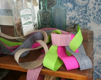 Linen Faux Hessian Burlap Ribbon, All Occasion, Scrapbook, Trimming, 5 Colours, By the metre