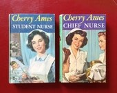 Vintage Story Books Young Adult Fiction Chapter Book Cherry Ames Student Nurse Chief Nurse Career Girls Reading