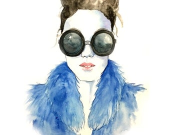 Fashion Illustration watercolor print