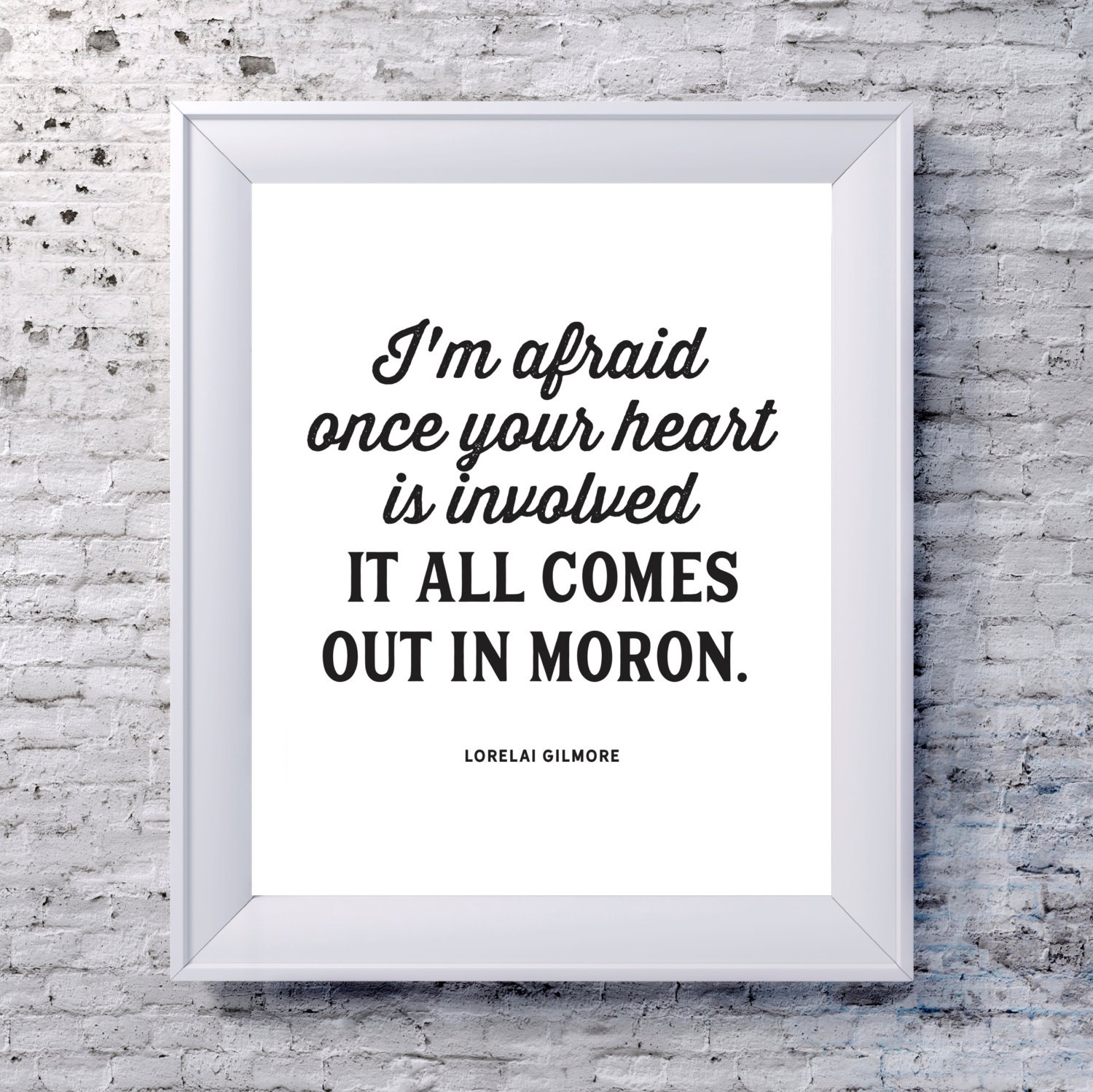 Lorelai Gilmore Quotes: Lorelai Gilmore Quote I'm Afraid Once Your