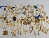 FREE Shipping Large Lot of Vintage Stick Pins Mens Jewelry Hat Lapel Brooch Over 60 pieces
