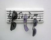 sunglasses holder - musical notes key hanger