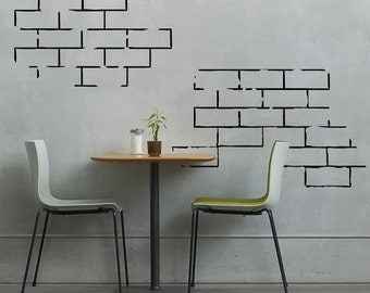 Exceptional Brick Wall Segments  Vinyl Wall Decal For Couples, Nurseries, Home Decor Part 21
