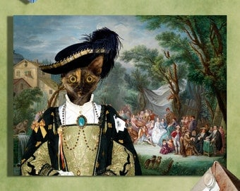 Devon Rex - Tortoiseshell Devon Rex Cat Fine Art Canvas Print