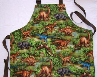 Boy Apron - Dinosaur Butcher Apron - Child Size 6