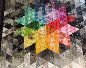 Quilt Kit - Pre Cut Pieces! - Tri Star Lap Quilt - Original Design by SoSheSewed