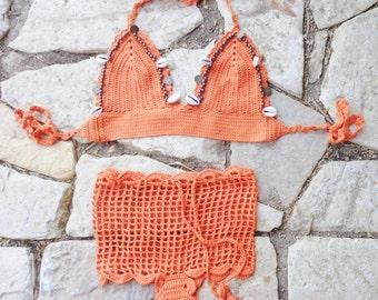 Sea Shell Crochet Bikini.