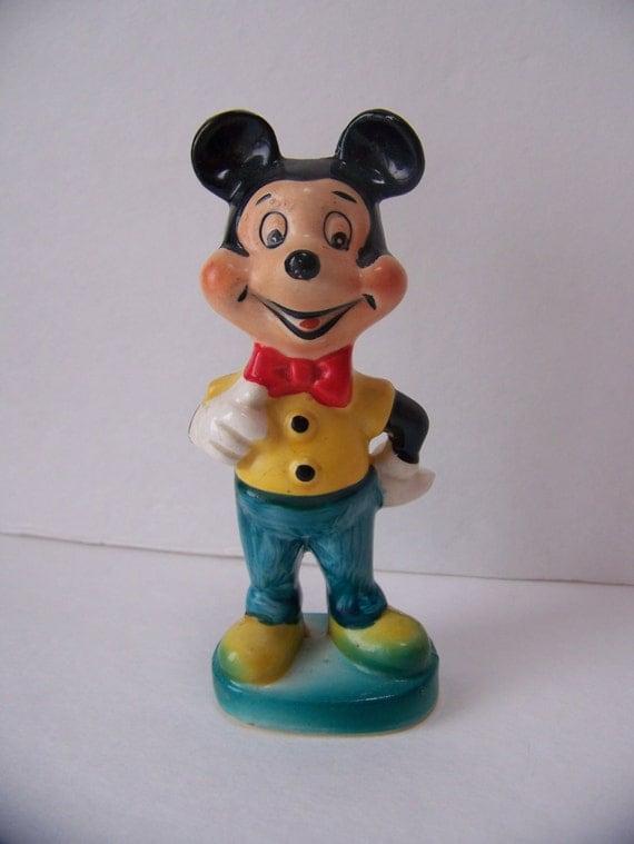 Vintage Mickey Mouse Figurine Ceramic Mickey Mouse Walt Disney