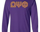 Long Sleeved Sorority/Fraternity Shirt with Greek Letters