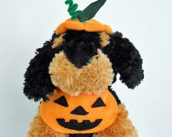 Halloween Mini or Tiny Pumpkin Costume for Tiny Dog or Cat  Halloween Costume