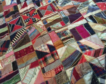 Antique Silks Satins Crazy Quilt