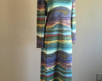Vintage Samantha York Southwest Watercolor Day Dress