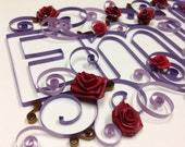 Paper quillling: Quilling, Custom Name, Baby Name, Framed art, up to 6 letters