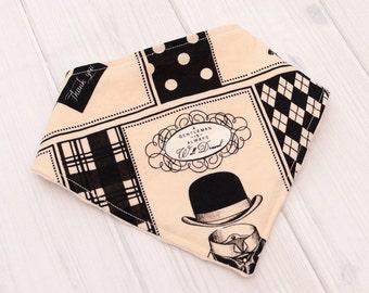 Dribble Drool Bib - Unique Baby Boy Gift Basket Ideas - Gentleman - Toddler Boy Bibdana Bib - Teething Scarf - Newborn Present - 1457