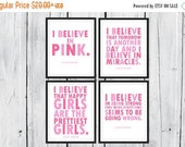 ONSALE Audrey Hepburn Quotes: I Believe in Pink. 4 prints one low Price