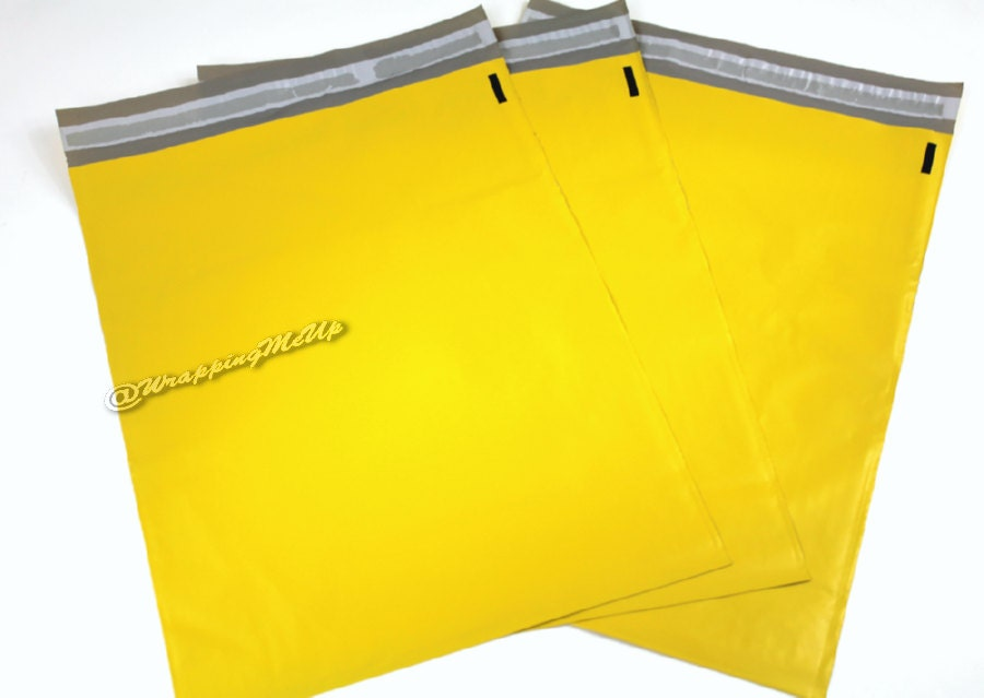 20 pack new 12x15 5 yellow poly mailers flat poly for 12x15 calculator
