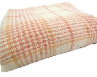 Jacobs Oregon City Mills Blanket - Vintage Wool Blanket - Wool Plaid Blanket - Jacobs Blanket - Glamper Blanket - Free Shipping - 4MTT16