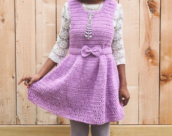 The Lavender Note Crochet Dress Pattern. Instant Download. Crochet Pattern.
