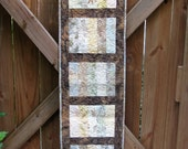 Quilted Table Runner - Table Topper - The Sands of Time in Brown