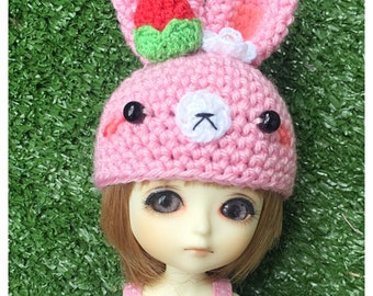 "Lati Yellow Outfit : ""Sweet Bunny Hat"" (Crochet Hat)"
