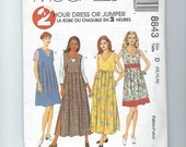UNCUT Sewing Pattern McCalls 8843 for Dress or Jumper, Sz 12, 14, 16