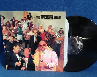 "RARE, Vintage, ""WWF, The Wrestling Album"", Vinyl LP, Record Album, Mean Gene Oakerund, Rowdy Roddy Piper, Hulk Hogan Real American"