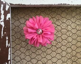 Pink Flower Clip