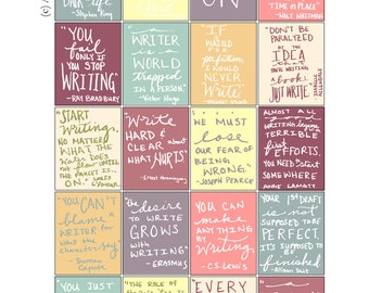 Hand-lettered Writing Inspirational Quote Stickers  Download