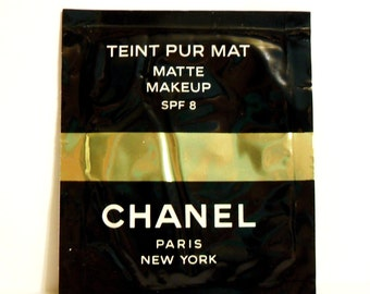 Vintage 1990s Chanel Teint Pur Mat Matte Makeup Cosmetic Sample Foil Packet