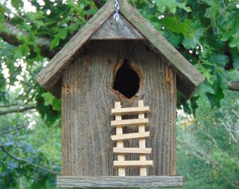 Rustic Cedar Hanging Natural Knothole Birdhouse