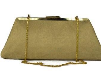 Golden bridal purse/ Bridesmaids gift purse idea/ Autumn wedding purse/ Golden evening clutch purse/ Custom made clutch purse/ Holiday purse