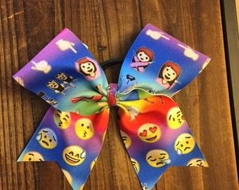 Mulit Color Emoji Cheer Bow