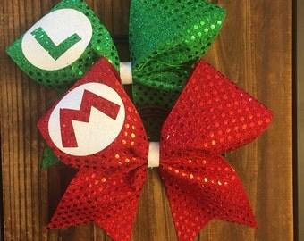 Mario & Luigi Bow Set