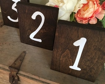 Rustic Woodland Theme Wedding Table Numbers- Fall/Spring/Summer/Winter Wedding Centerpiece