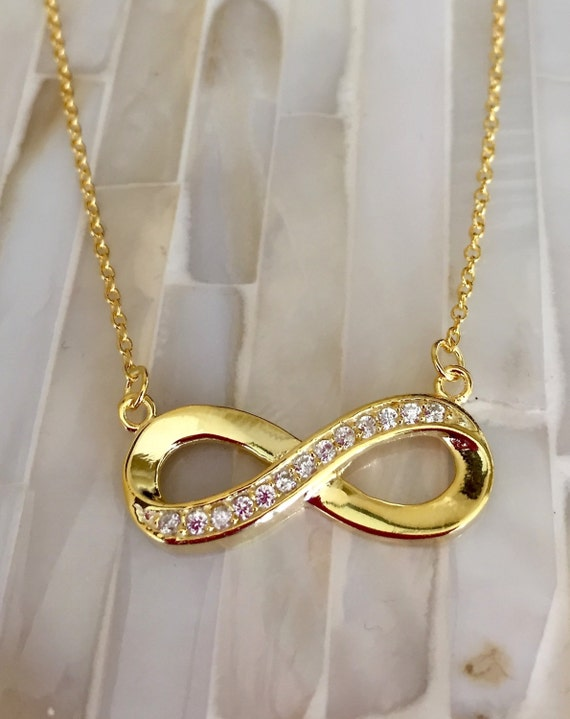 Gold Infinity Necklace Couples Jewelry Lovers Forever