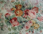 Vintage Ralph Lauren Pillow Shams, Floral Print, With Ruffles, Multi-Color Floral with Roses, King Size