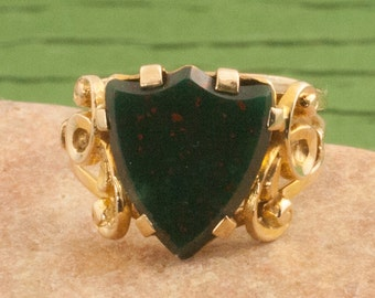Antique Victorian Bloodstone Ring