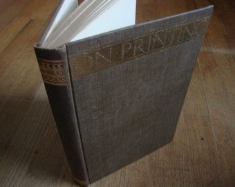 SALE - Paragraphs on Printing - by Bruce Rogers - 1943 - Vintage Hardcover Book - Typography - RARE