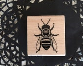 Bumble Bee Rubber stamp by Stampbilities / New Honey Bee Stamp for Altered ARt, Mixed Media, Cards, Journals, Scrapbooking, Etc.