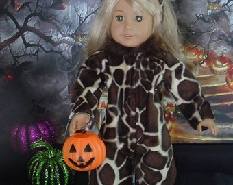 Giraffe Halloween Costume for American Girl Dolls