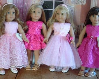 Valentines Day Party Dresses for American Girl
