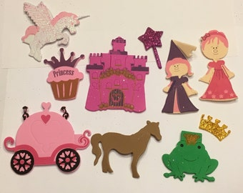 20 piece ( 2 Each ) Princess foam shapes, 30 -80 mm (HR)
