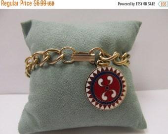ON SALE Vintage Enameled Hex Sign Bracelet Item K # 1147